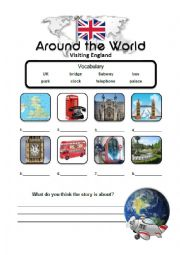 English worksheet: London Travel Story Lesson