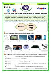 English Worksheet: Science and Technology