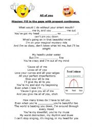 English Worksheet: All of you