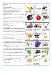 Worksheets Worksheet Idioms Food english worksheets idioms page 15 food idioms