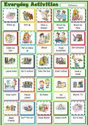 English Worksheet: Everyday Activities