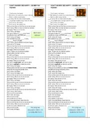 English Worksheet: Song Don´t worry be happy