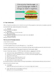 English Worksheet: Topic, supporting and concluding sentences