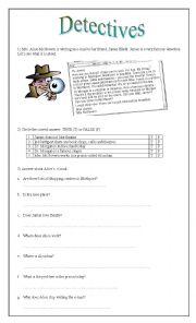 English Worksheet: Detectives