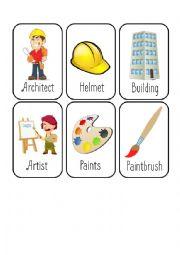 Jobs Card Game [1/8] [Architect - Artist - Bricklayer - Carpenter]