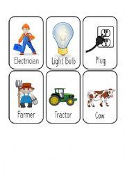 Jobs Card Game [3/8] [Electrician - Farmer - Fire Fighter - Gardener]