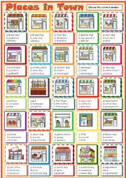 English Worksheet: Places in Town > Shops