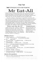 English worksheet: Test for Elementary