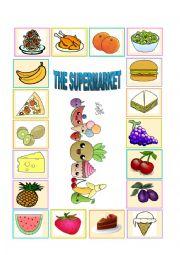 English Worksheet: The supermarket game (part 1)