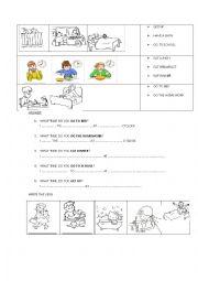 Routine verbs