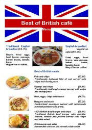Menu 1 - best of British café