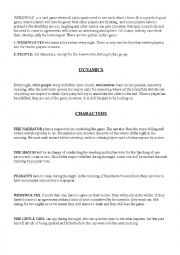 English worksheet: GAME WEREWOLF instructions and script for narrator