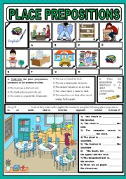 Place prepositions in school