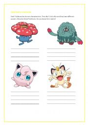 English Worksheet: Creating a Pok�mon