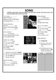 English Worksheet: Sacrifice by Elton John