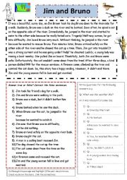 English Worksheet: Jim and his dog.