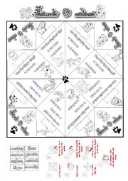 English Worksheet: Animals ans actions cootie catcher