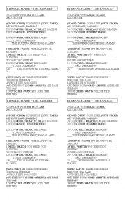 English Worksheet: Song  Eternal Flame