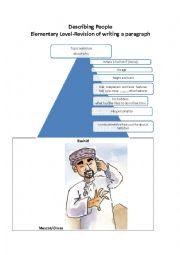 English Worksheet: Describing People- guided writing