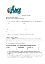 English Worksheet: Trailer: exit through the gift shop