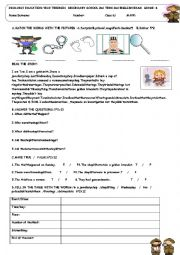 English Worksheet:  second term 6th grade 2nd exam for TURKISH STUDENTS
