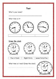 English worksheet: Test for Elementary
