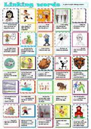 English Worksheet: Linking words