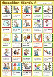 English Worksheet: Question Words * 1