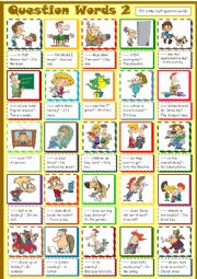 English Worksheet: Question Words * 2