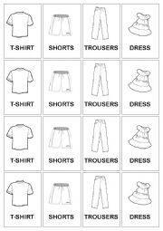 English Worksheet: Clothes- snap (cards)