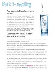 English Worksheet: How much water can we drink?