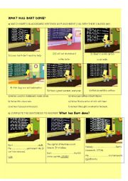 English worksheet: What has Bart Simpson done?