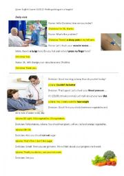 English Worksheet: Medical Dialogues in Hospital