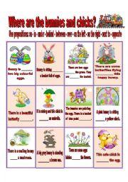 English Worksheet: Easter prepositions