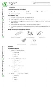 English Worksheet: 2nd Conditional, Passive voice test