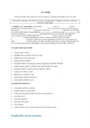 English worksheet: Au Pair