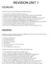English Worksheet: Revision Level B2