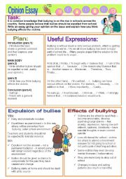 OPINION ESSAY - bullying, expulsion and effects of bullying on victims