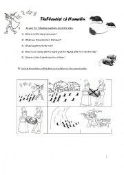 English Worksheet: The flautist of Hamelin for Storytelling