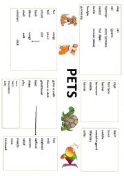 PETS - Vocabulary