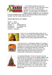 English Worksheet: Traditions in Great Britain Part 1