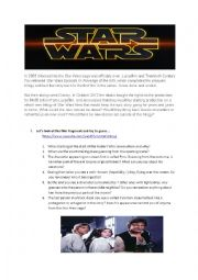English worksheet: CONDITIONALS 0, 1, 2 WITH STAR WARS: THE FORCE AWAKENS TRAILER