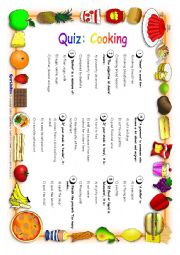 Quiz: Cooking