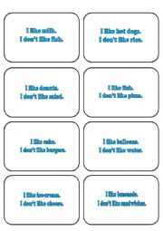 English Worksheets: SIMPSONS MEMORY CARDS LIKE DON´T LIKE/ FOOD     2/2
