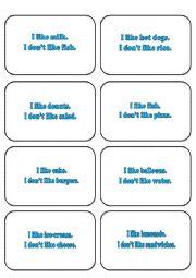 English Worksheet: SIMPSONS MEMORY CARDS LIKE DON�T LIKE/ FOOD     2/2