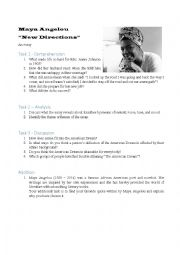 English Worksheet: Maya Angelou