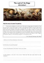English Worksheet: The Lord of the Rings
