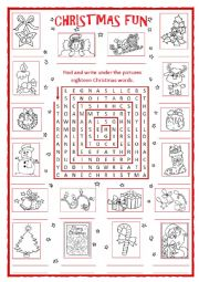 Christmas Fun Word search