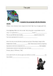 English Worksheet: Presentation of a 5 minutes film :Grocery Store Wars, a parody of Star Wars Part 3
