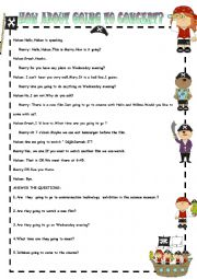 English Worksheet: PHONE CONVERSATION 4 /Concert